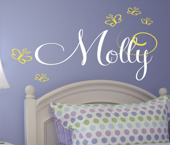 Butterfly Wall Decal for Girls bedroom or Nursery