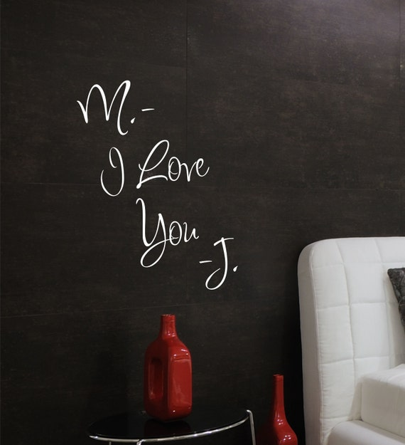 Love  Wall Decals - Name Wall Decal - Bedroom Wall Decal  -  Personalized Wedding Decor - Bedroom Decor