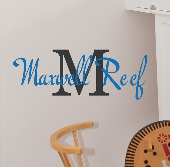 Children Wall Decals - Name Wall Decal - Name Wall Decals - Boys Vinyl Wall Art - Custom Monogram Wall Decals