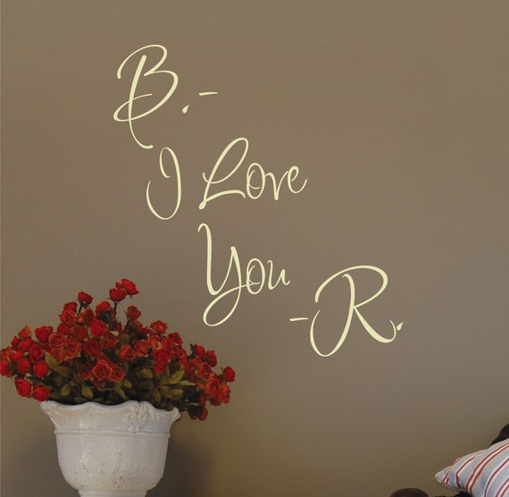 Love Decal - Bedroom Decor - Name Wall Decal - Wedding Decor - I Love You - Bedroom Wall Decals - Wall Art