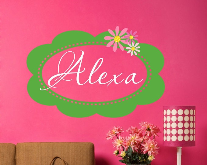 Wall Decal Nursery - Name Wall Decal - Girls Name Vinyl Wall Decal - Childrens Wall Decals - Monogram Wall Decal