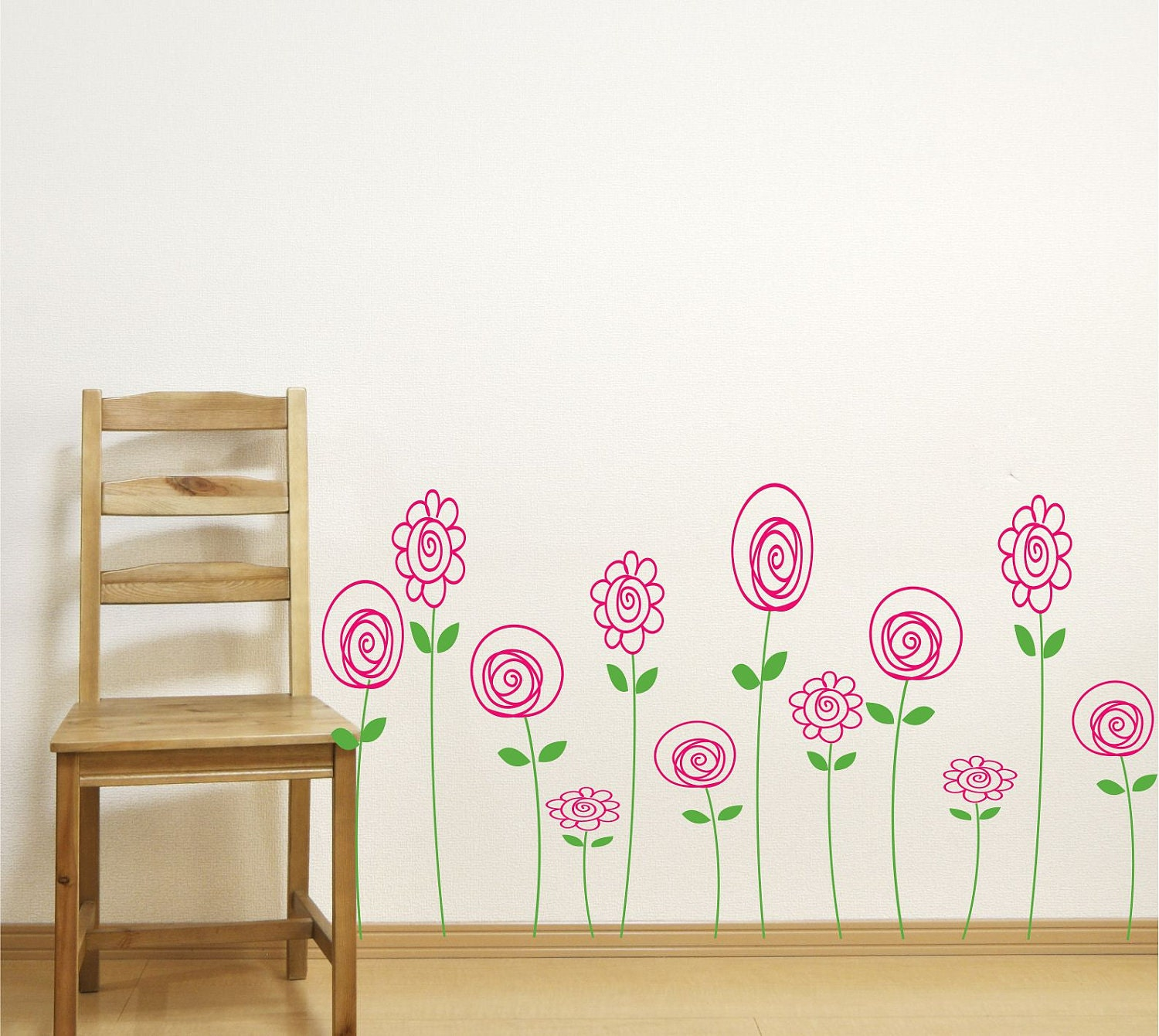 Children Wall Decals Doodle Wall Art Baby Girl Nursery