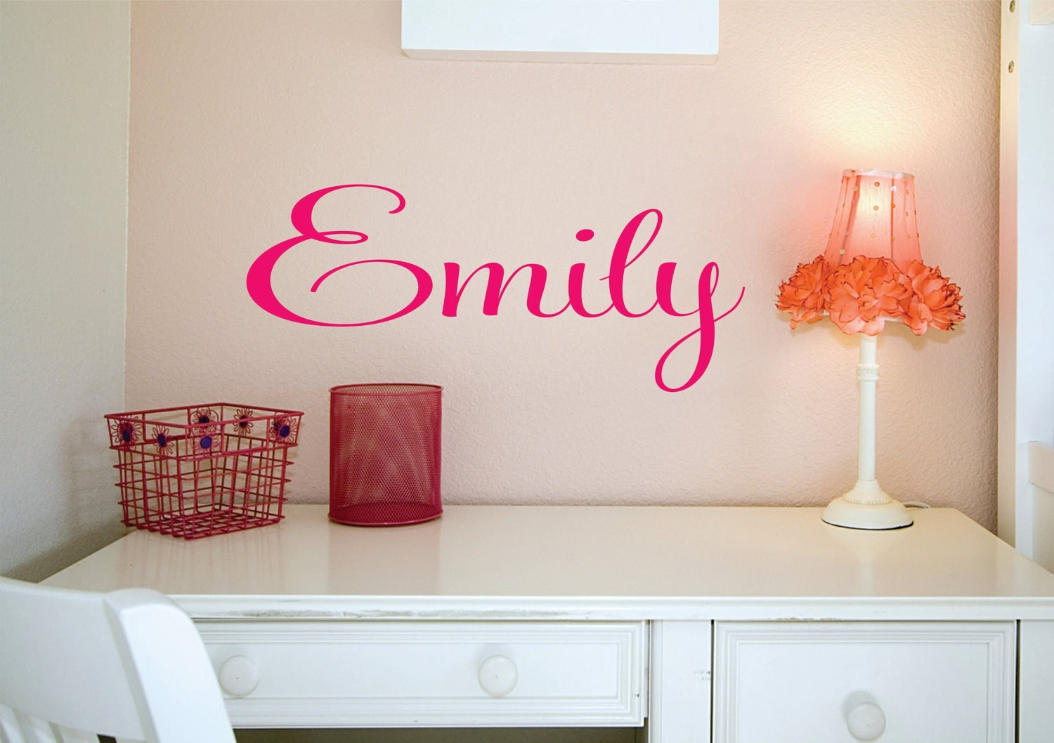 wall decal personalized girls name vinyl decal zoom