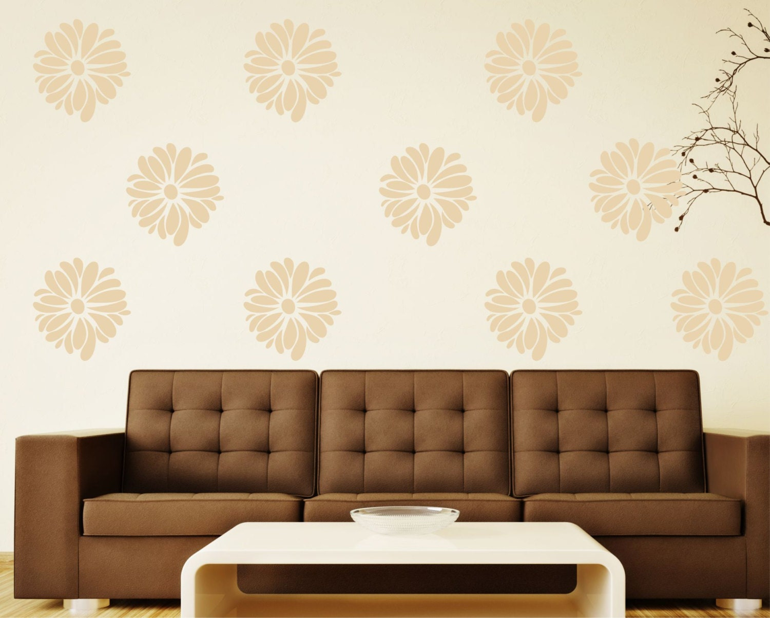 flower wall decals small decal pattern flower great for
