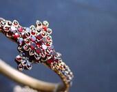SALE .... ART NOUVEAU Bohemian Garnet Bracelet.