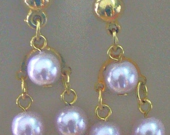 HAND DYED Pearl Earrings