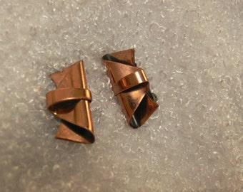 Renior  copper clip earrings