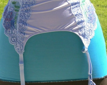 blue garter hand painted size 37 hips