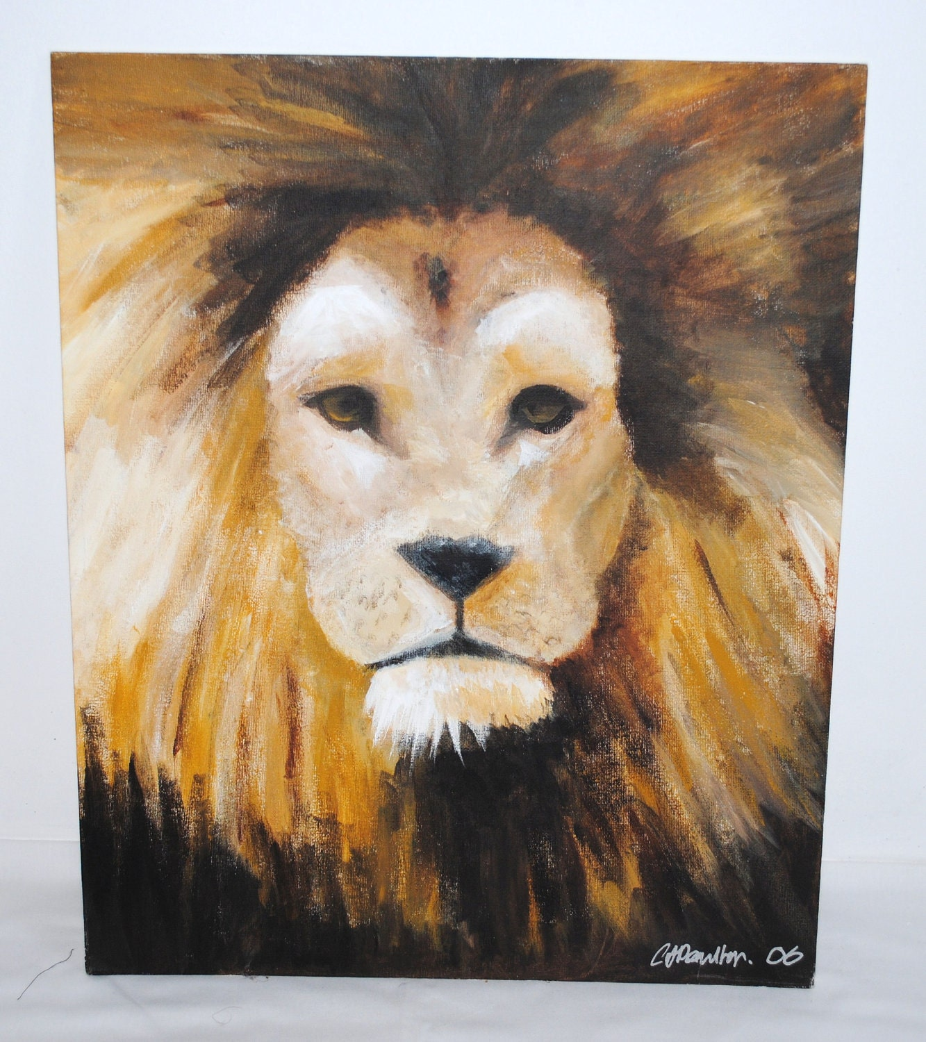 Lion Paintings Canvas | www.imgkid.com - The Image Kid Has It!