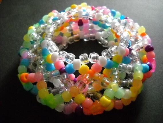 3D Pastel Rainbow Kandi Cuff