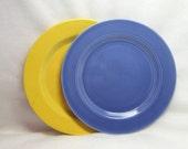 Harlequin Plate Dinner Plate Blue Art Deco China Fiestaware Riveriaware Sister Lines Vintage