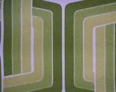 full roll vintage wallpaper geometric lime greem lines 10m x 53 cm funky retro