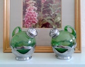 Salt and  Pepper Shakers  - Vintage Farber Bros Cambridge Glass