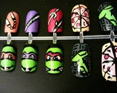 Teenage Mutant Ninja Turtles Nail Art