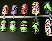 Teenage Mutant Ninja Turtles Nail Art