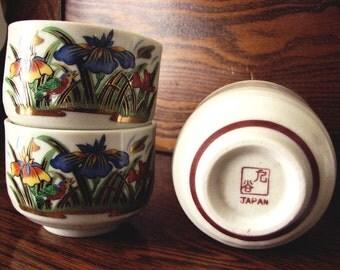 Vintage Japanese Tea Set - Tea Pot and 5 Tea Cups - Japan 1950s - PRICE REDUCED