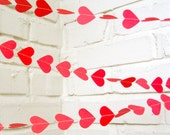 The Amore Garland, Hearts, Bright Pink,  Wedding Garland, Wedding Shower, Valentine's Day