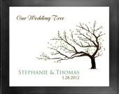 Thumbprint Guest Book Wedding Tree No. 3 - 24 x 30