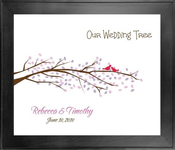 Wedding Tree No. 5 - 20x24 - Thumbprint Guest Book