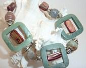 RESERVED Beaded Stone Bracelet