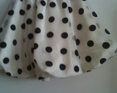 Girls SIZE 4 to 5 black and white poked dotted skirt  designed by LOLITA ALONZO
