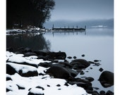 Loch Earn Winter Snow Photograph