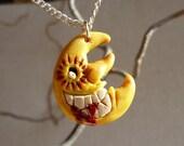 Soul Eater Evil Grinning Moon Ceramic Pendant