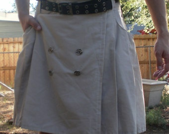 Business Khaki Kilt