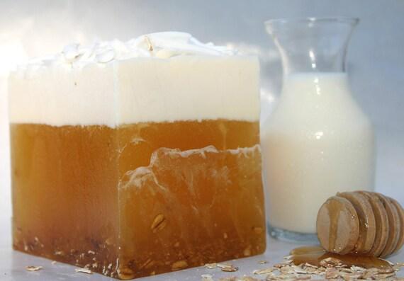 Oatmeal, Milk & Honey Glycerine Soap with Goats Milk