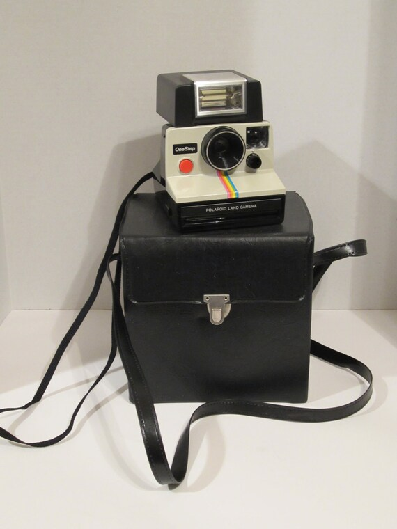 Vintage Polaroid SX70 One Step (Rainbow Model)- with Flash and Case PRICE REDUCED