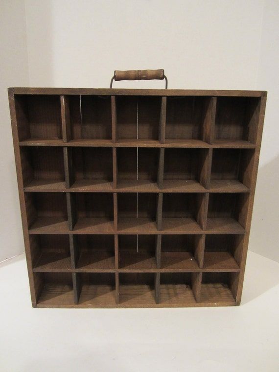 Vintage Wooden Drawer With Sections