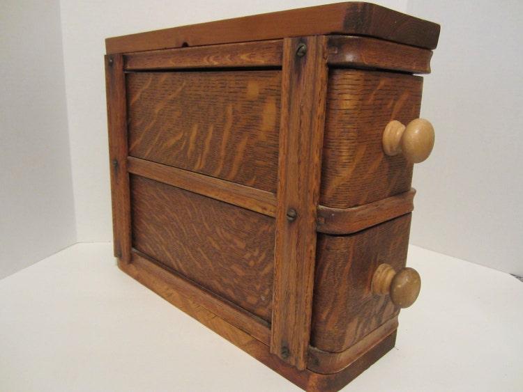 vintage sewing machine drawers