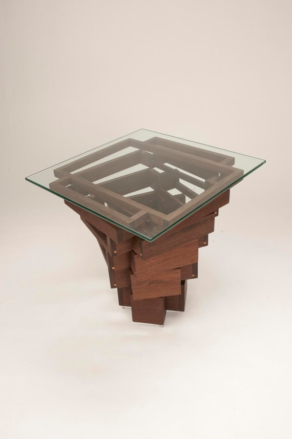 End Table Coffee Table Peruvian Walnut
