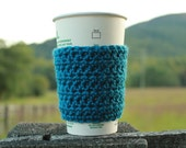 Bean Crochet Coffee Sleeve / Cozy in Ocean