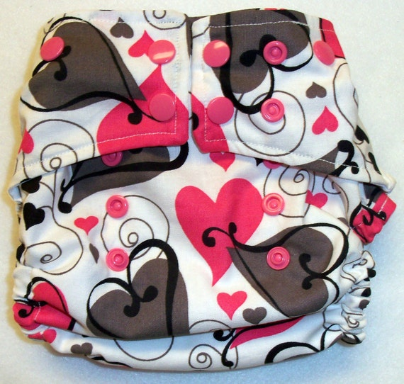 Swily Heart OS Diaper Cover