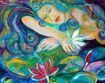 Art for woman. Goddess painting. Goddess art. High quality giclee print.