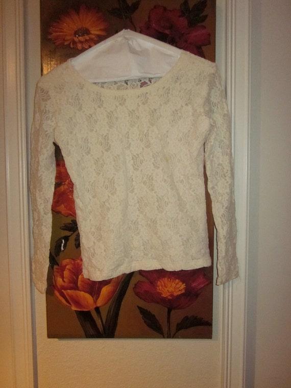 Vintage Lace Blouse Size Small