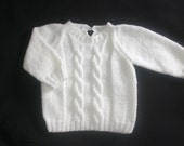 White Sweater for boy, 4T