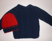 Sweater and Hat for boy, 2T (for Silvia)