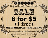 SALE 6 Images for 5 Dollars - Bundle Burlap Digital Download Paper Fabric Iron On Transfer To Cushions Pillows Tote Bag Tea Towels