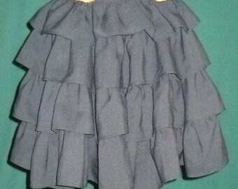 Black poufy flounce skirt 1980s