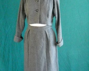 1980's Gray Wool Suit 2 pc