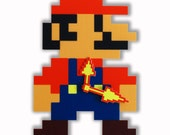 Mario Pixel Wall and Table Clock Game