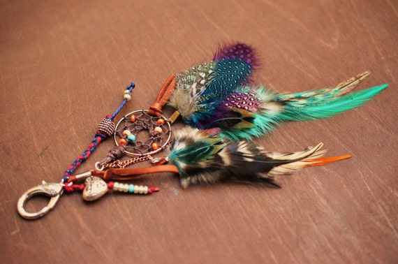 Dreamcatcher Feather Purse Charm Women's Accessories Bohemian Gypsy Dream Catcher Boho Free People Style Festival Chic