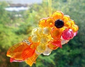 Sun catcher suncatcher Beaded ornament Sunshine goldfish by Orchid's Orchard