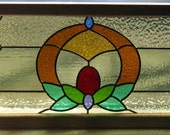 STAINED GLASS WINDOW panel  leaded- artwork