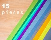 15 wool felt pieces 30x40cm - Choose your colors -Irisfelt-