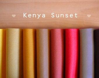 Kenya Sunset -Irisfelt Collection- 8 pieces 15 x20cm