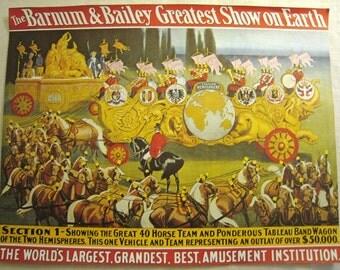 the barnum & bailey greatest show on earth poster art print