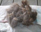 raw alpaca fleece, rose-grey, 100g (3.5 oz)